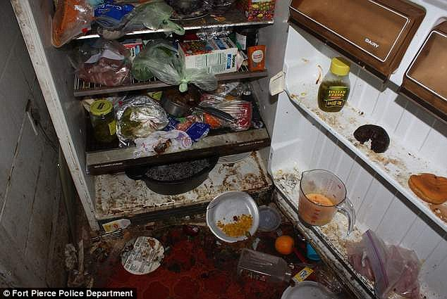 Sick: Two parents have been arrested after their children were found living in deplorable conditions, pictured