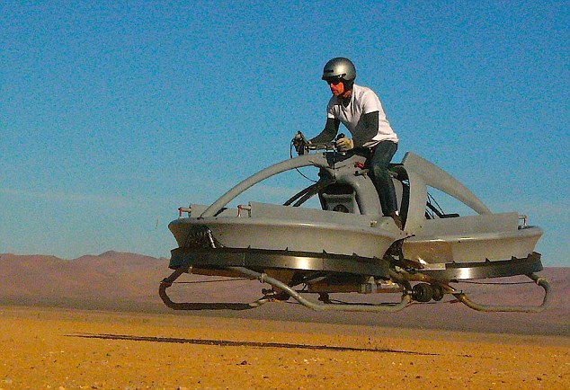 Star Wars for real: The real-life hoverbike created by California firm Aerofex was tested in the Mojave desert and a video revealing the innovation to the world was released in 2012