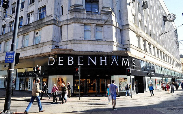 Scene: The boy was raped in a toilet in this Debenhams store in Manchester city centre