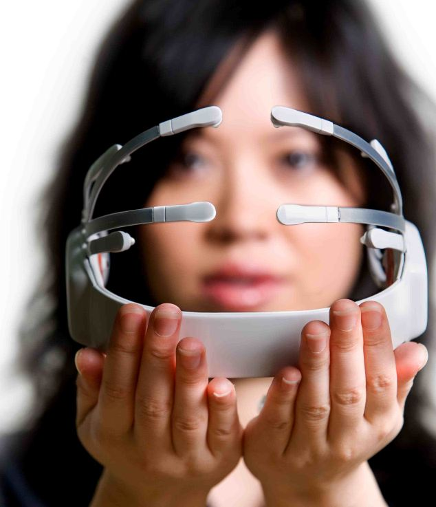 The Emotiv headset, which is usually used to control games. Researchers found it can be used to work out a person's PIN number and banking details by monitoring brainwaves