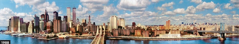The boom of the 80s shows a New York skyline that is much more recognisable to today's residents and visitors (picture from UrbanPeek.com)