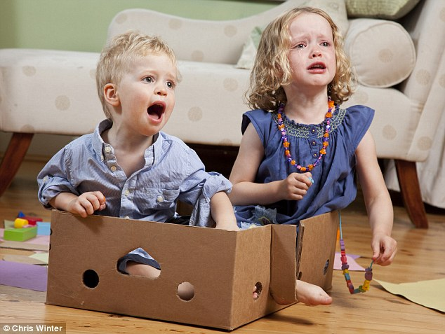 No, Mum! Alex and Clare's initial reaction to their new, slimmed-down toybox is far from enthusiastic