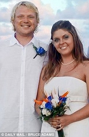 Caribbean dream: Scott Brown with his bride Rachel on their wedding day in September 2009 in the Dominican Repulic. She asked for a divorce on Christmas Day last year