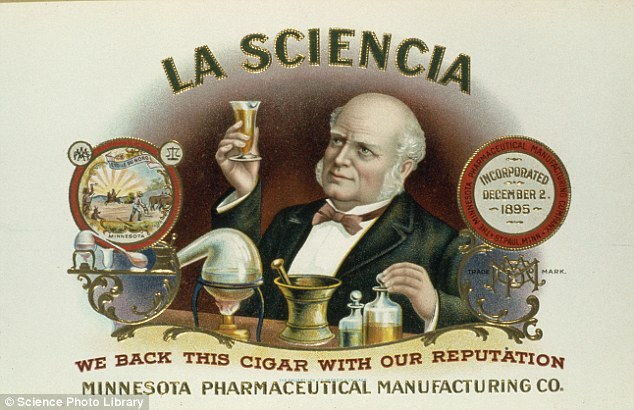 Up in smoke: An advert produced by Minnesota Pharmaceutical Manufacturing Company in 1895 claiming its cigars don't damage health because they are pure and scientific