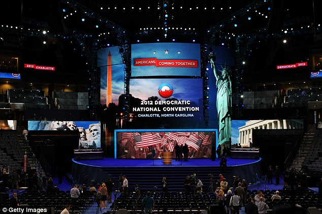 The event: The convention is being held in the Time Warner Cable Arena which begins Tuesday night