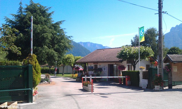 Reported missing: The family were believed to have been staying at a campsite in Saint Jorioz (above)
