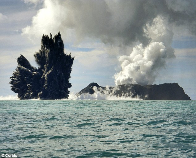Round 1: An underwater volcano erupts near Tonga in 2009 - perhaps a reminder of an extinction more than 65million years ago