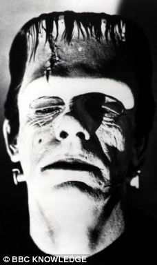 The monster created by Frankenstein