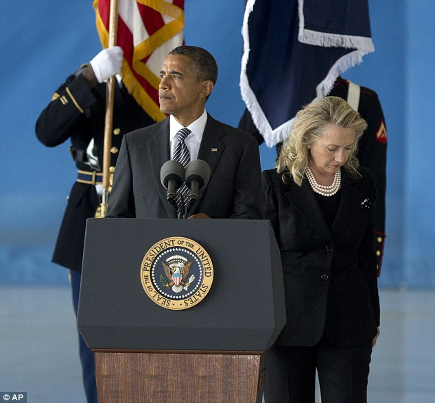 President Obama and Hilary Clinton spoke movingly at the ceremony as the bodies of four American citizens killed at the U.S. consulate in Benghazi were returned home