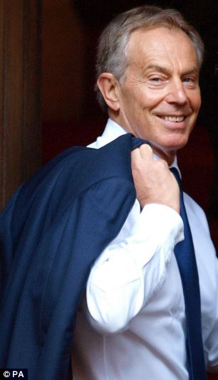 Schmoozing sheiks: Former Prime Minister Tony Blair was reportedly earned $1m (£620,000) to broker 11th-hour talks in a mining business takeover
