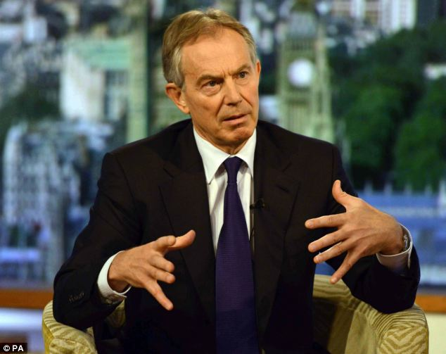 Cultivated relationship: Mr Blair is considered a close personal friend of the sheik and has played a pivotal role in various negotiations involving the sheik