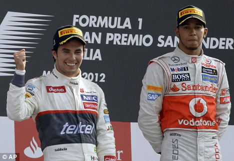 Pole position: Sergio Perez lined up to replace Lewis Hamilton at McLaren