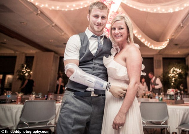 Stronger together: Danielle Kelly has helped her boyfriend through his recovery since the moment he arrived back on home soil