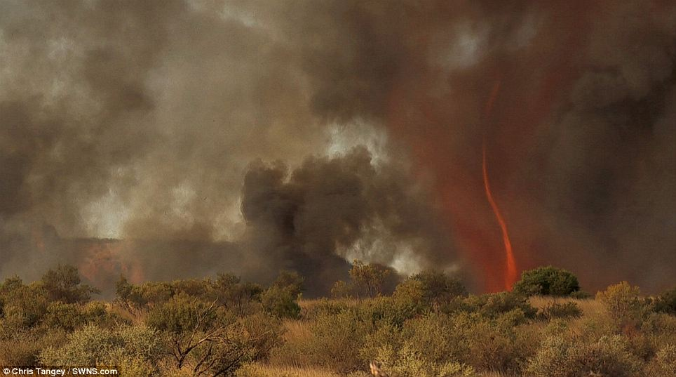 Rural: Thankfully the fire tornado occurred in the remote Australian outback and no injuries were reported