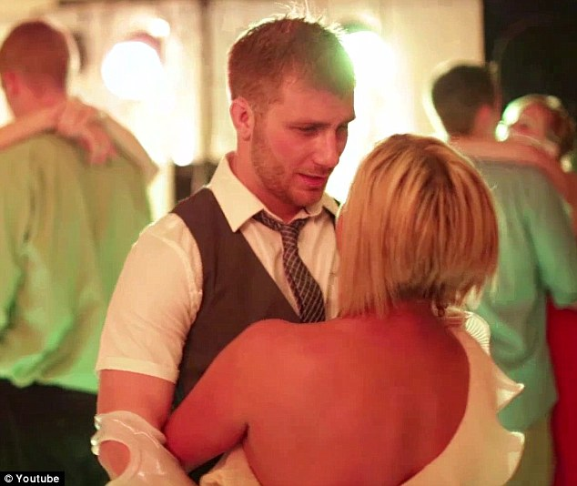 Tenderness: Taylor holds his girlfriend close as they slow dance to Boyz II Men