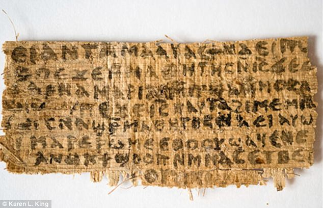 Explosive: The ancient papyrus that apparently proves that Jesus was married to Mary Magdalene