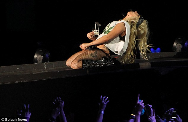 We love you, Gaga! As the singer was wrapped up in her music, her fans cheered and screamed