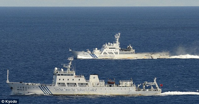 Sabre-rattling: China has sent military vessels to the islands