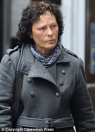 Visitor: Michelle Short widow of David Short and mother of Mark Short was in court