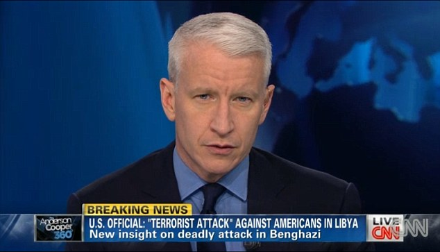 Mystery source: Cooper admitted two days later the CNN found Stevens' personal journal in Libya and used information from it in its reporting