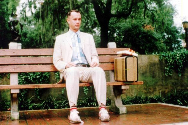 Started walking: Tom Hanks in a scene from the film 1994 Forrest Gump