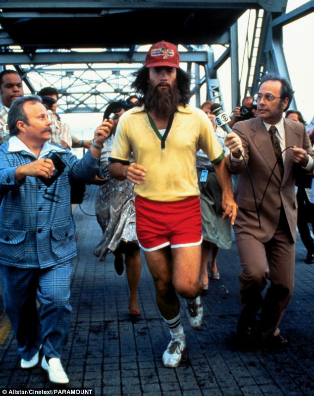 Mr Kleckner ended up looking rather like Forrest Gump (pictured), who grew a beard after he started running in the film