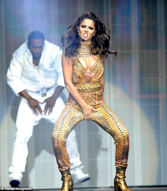 Fierce! The 29-year-old singer didn't appear to be suffering from nerves and oozed confidence on stage, but a source revealed she was a little apprehensive as it was her first show
