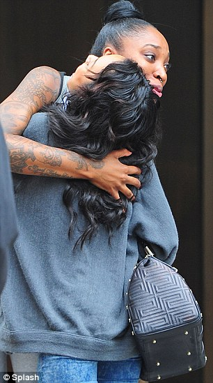 Single: Karrueche was spotted in New York with friends on Wednesday