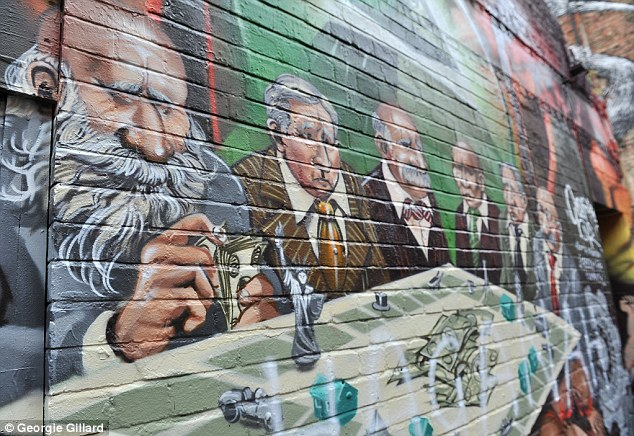 Image result for mural anti-semitic