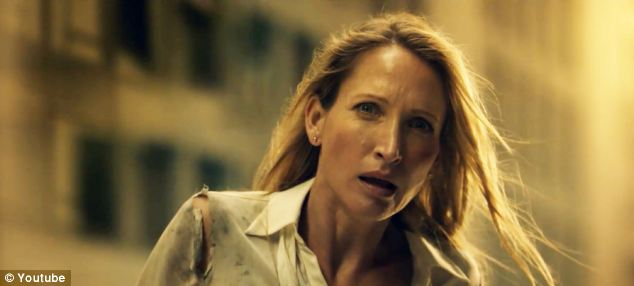 Zombie apocalypse: The video starts with a lone woman wandering a seemingly abandoned city
