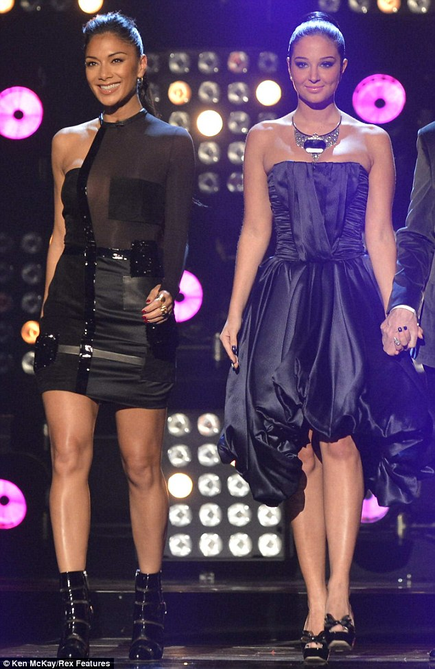 0058cd8323bf Nicole Scherzinger stuns in sheer mini-dress on the first X Factor live  show…