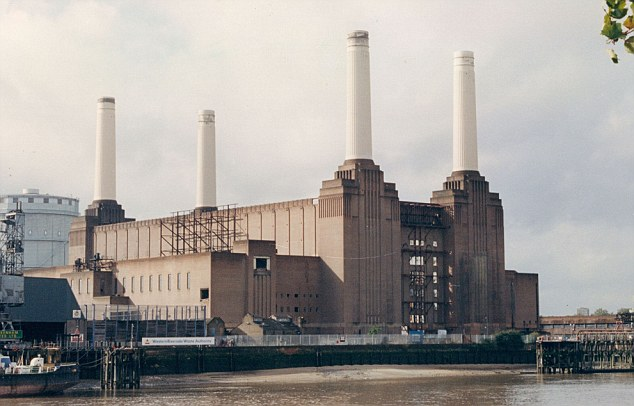 Sharia-controlled area? The mosque, which will be around the size of Battersea Power Station (pictured), will have 40ft minarets, an Islamic library, sports facilities and eight flats for visiting clerics