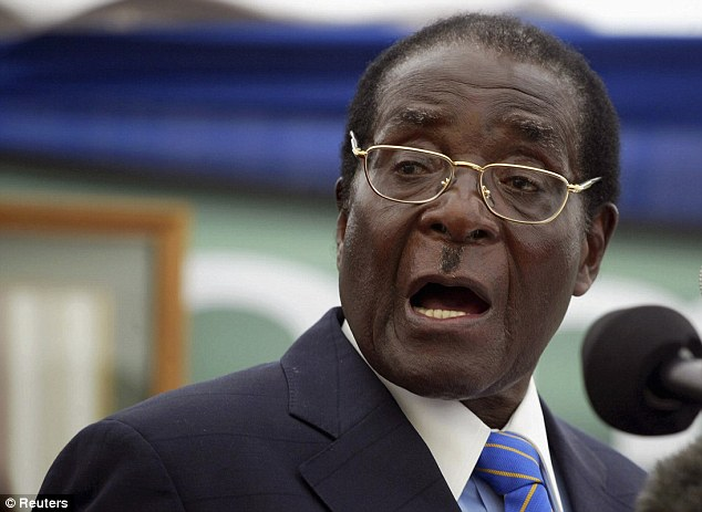 Dictator: It follows other cases where individuals accused of committing horrendous violence have been granted refuge in Britain. They include a former henchman of Zimbabwean dictator Robert Mugabe (pictured)