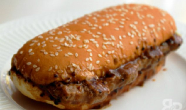 Prosperity Burger: This beef sandwich with peppery sauce and onions is available in China around New Year