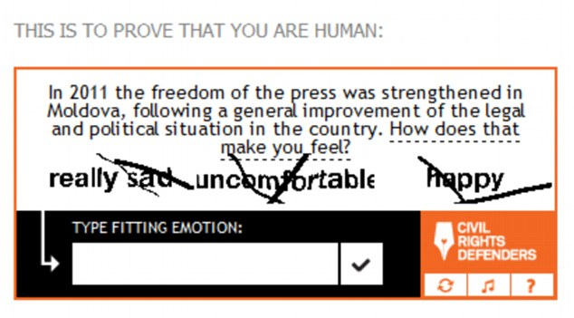 Moral stance: A new kind of Captcha asks users to prove they are human by choosing the morally correct response from a choice of three