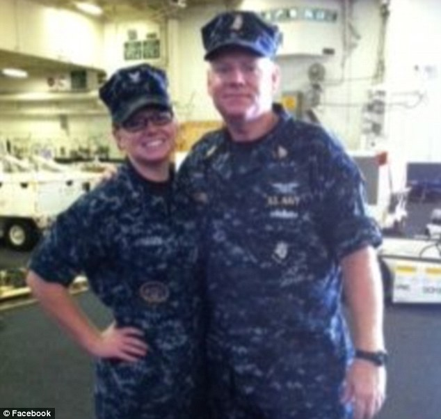 Duty calls: Father and daughter, Breanna and David Janssen have been deployed at the same time to the USS Harry S Truman