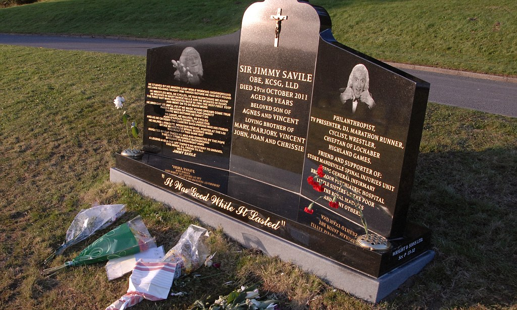 Jimmy Savile Gravestone Removed By Family As Police Launch