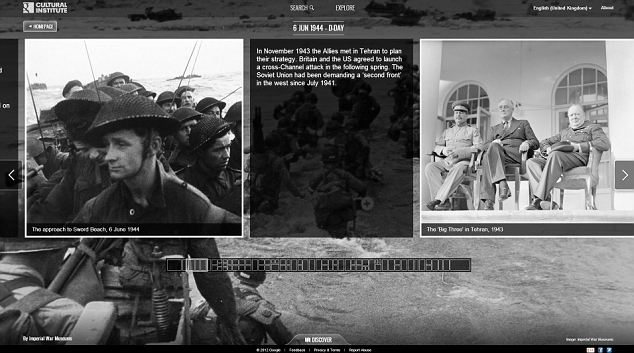 D-Day: The Normandy landings are among the 42 Google Cultural Institute interactive online exhibitions that have gone live today