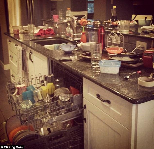 untidy kitchen