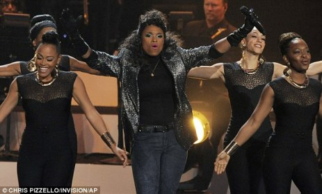 Doing it for Whitney: The 31-year-old powerhouse singer performed several songs by Houston