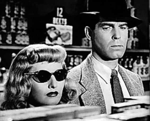 The original femme fatale: Barbara Stanwyck with Fred MacMurray in the 1944 noir classic Double Indemnity, in which she plays a woman who convinces an insurance investigator to help her murder her husband