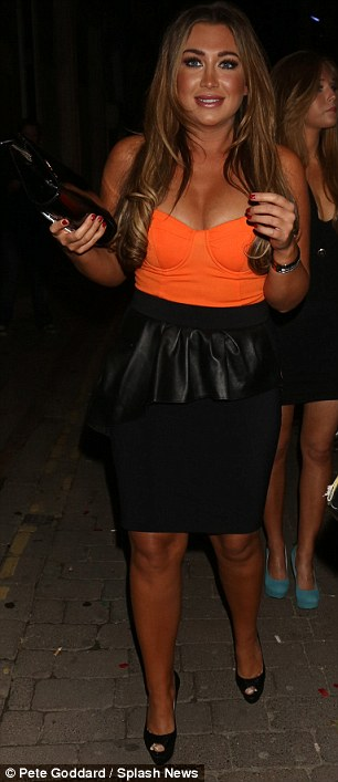 Lauren Goodger Matches Her Tan To Her Top In Corset Style