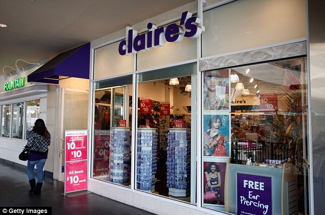 Self-policing: Claire's is one of the national chains, along with Wal-Mart, has stopped selling Chinese-made jewelry that has been contaminated