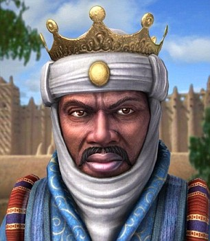 Mansa Musa I: This video game representation of the king shows what he may have looked like in the 1300's
