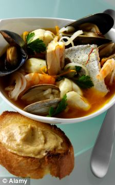 Healthy french bouillabaise