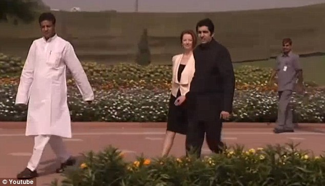 All bodes well for Ms Gillard after she finishes laying a wreath at Mahatma Gandhi¿s cremation site