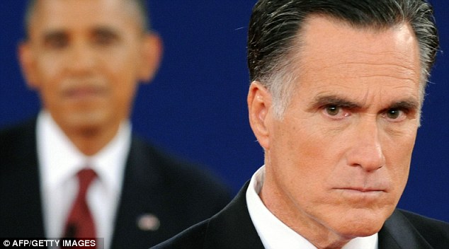 Anger: Romney lost his temper at one point as he ordered the President not to interrupt him