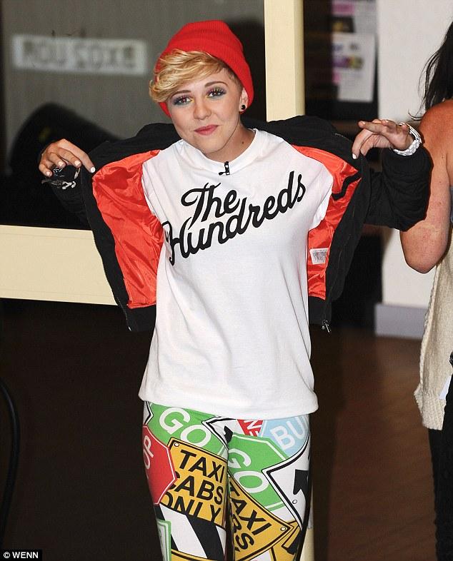 Usual look: Charlie prefers the tomboy look, wearing cool streetwear brands and patterned leggings on last week's X Factor