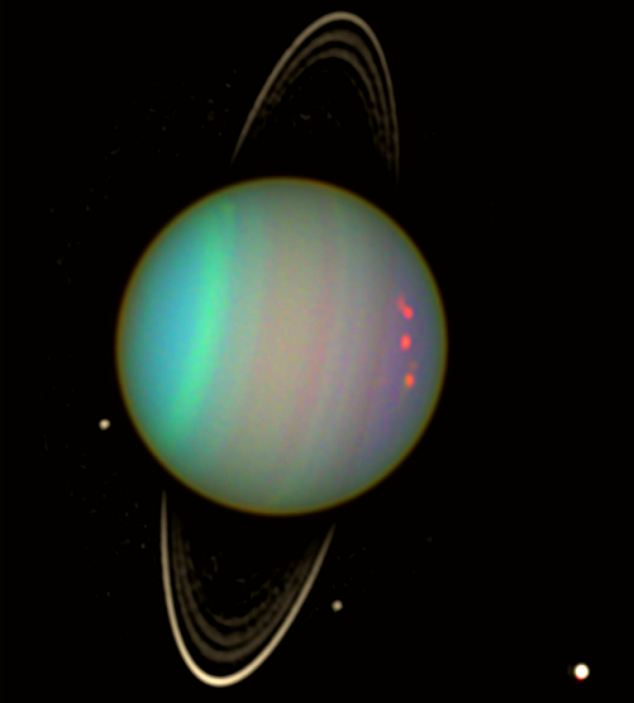 Previous images of Uranus, such as this one taken in January 2004, failed to spot the weather conditions.