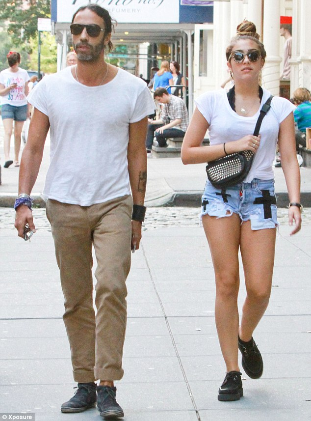 Independent teenager: Lourdes and her personal trainer father Carlos Leon
